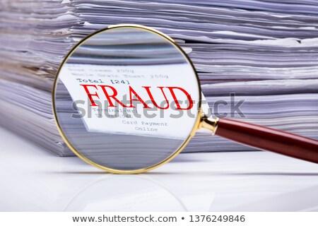 Lupa fraude texto papel Foto stock © AndreyPopov