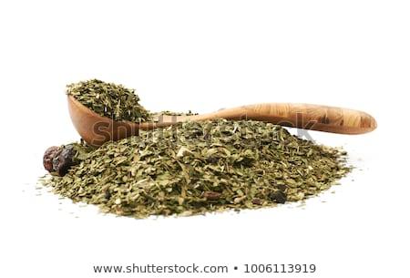 Companheiro chá secas folhas Foto stock © grafvision