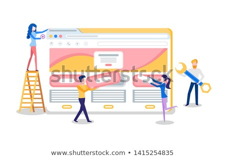 Web Site Creation, Browser Tab and Online Page Stock photo © robuart