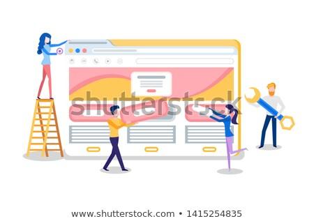 Website schepping browser online pagina internet Stockfoto © robuart