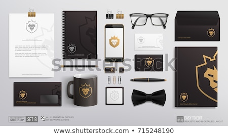 Isolated set of stationary Stock photo © bluering