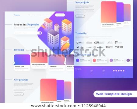 House for rent concept landing page. Stock photo © RAStudio
