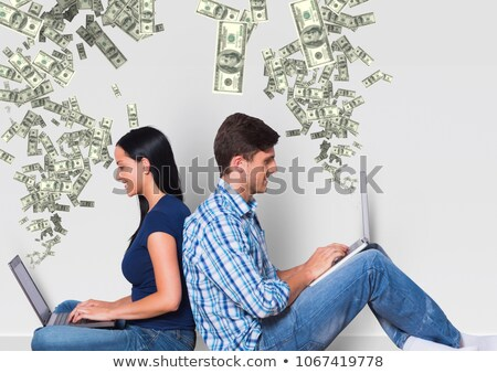 para · laptopy · działalności · biuro · miłości · kobiet - zdjęcia stock © wavebreak_media