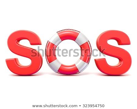 Sos sygnał łodzi życia plaży Zdjęcia stock © trexec