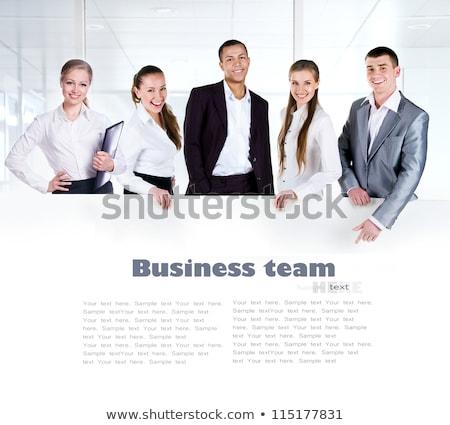 ビジネスマン 白 空っぽ パネル ポジティブ ビジネス ストックフォト © lichtmeister