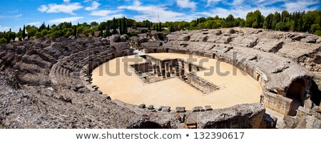 Ruinas España romana ciudad viaje piedra Foto stock © borisb17