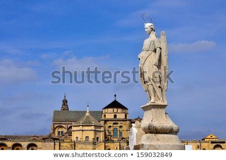 Sculpture Of St Raphael Cordoba Spain Stok fotoğraf © BibiDesign