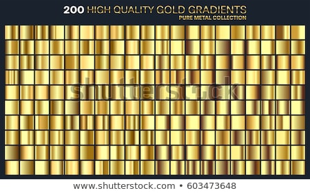 Vector set of various gold-framed colorful labels stock photo © blue-pen