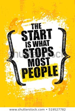 Sport motivazionale poster modello illustrazione può Foto d'archivio © barsrsind