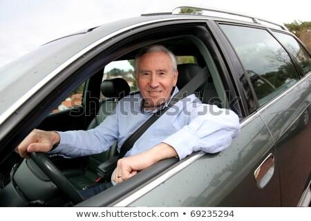 Portret senior bestuurder auto man mannen Stockfoto © HighwayStarz