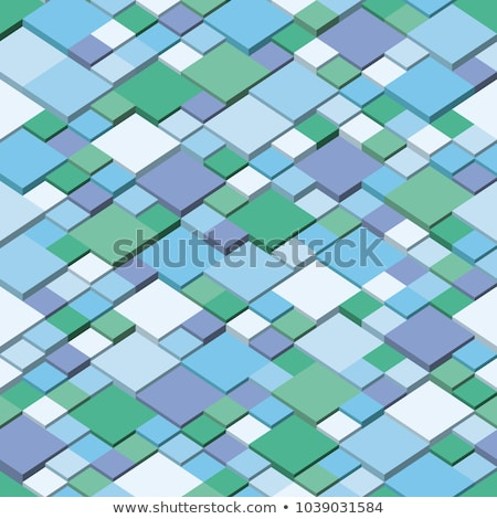 Winter. Square mosaic vector background corner design. Seamless pattern colors of winter.  Stock photo © ukasz_hampel