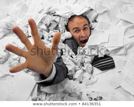 üzletember süllyed halom iratok kérdez segítség Stock fotó © nomadsoul1