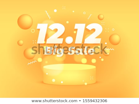 orange attractive sale banner for online shopping Stock photo © SArts