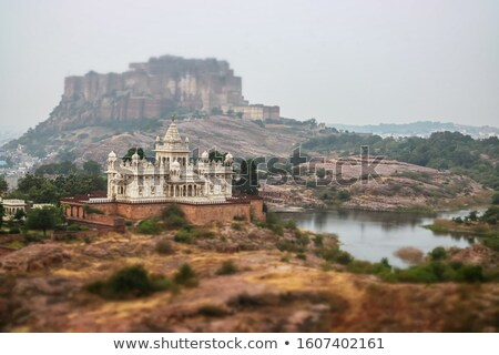 Tilt shift lens - Jaisalmer Fort is situated in the city of Jais Stock photo © cookelma