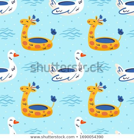 Mały żółty gumy pierścień żyrafa hot Zdjęcia stock © foxbiz