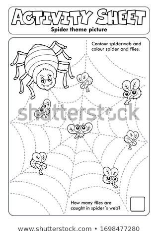 Etkinlik levha örümcek doğa eğitim hayvanlar Stok fotoğraf © clairev