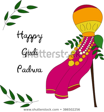 Gudi Padwa Lunar New Year celebration in Maharashtra of India Stock photo © vectomart