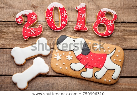 Gingerbreads for new 2018 years Stock photo © olira