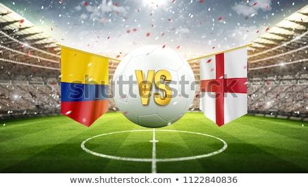 Kolombiya vs İngiltere futbol maç örnek Stok fotoğraf © olira