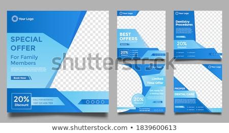 Criador publicidade cartaz vetor brilhante Foto stock © pikepicture