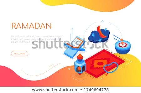 Ramazan modern vektör renkli izometrik web Stok fotoğraf © Decorwithme