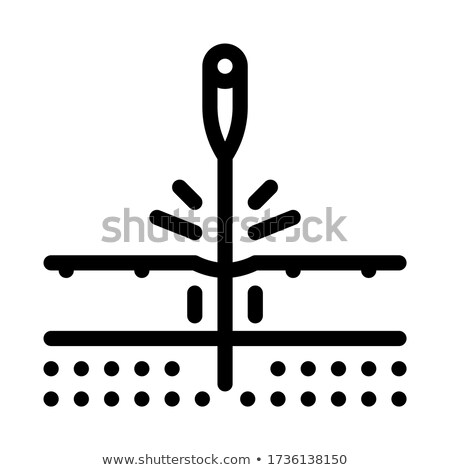 sticking needle into skin icon vector outline illustration Stock photo © pikepicture