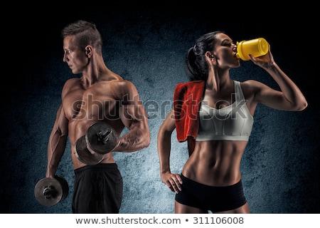 Atletisch man vrouw sterke Stockfoto © Jasminko