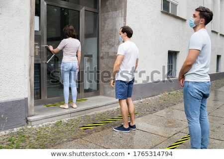 People Line With Social Distancing Protocol Stock photo © AndreyPopov