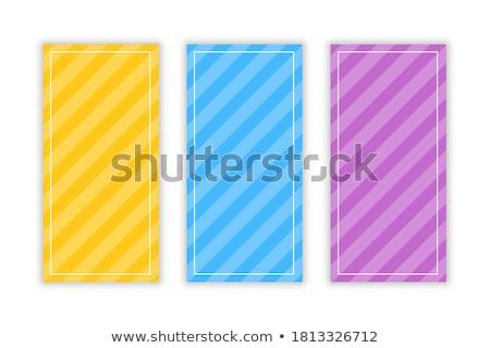 Diagonal bannières trois carte Photo stock © SArts