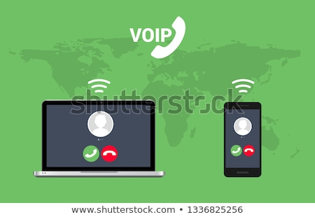 Voip ip roepen isometrische icon vector Stockfoto © pikepicture