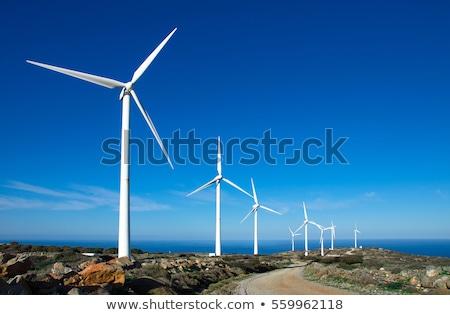 Wind power generation machine Stock photo © Ansonstock
