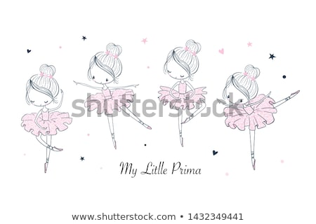 ballerina · portret · charmant · balletdanser · witte · naar - stockfoto © pressmaster