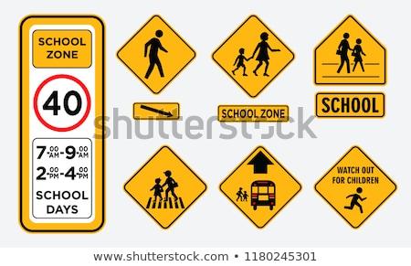 School vrouw auto kruis achtergrond Stockfoto © FrameAngel