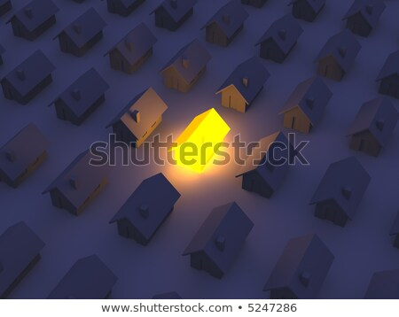 Illuminated Toy House Stock photo © Spectral