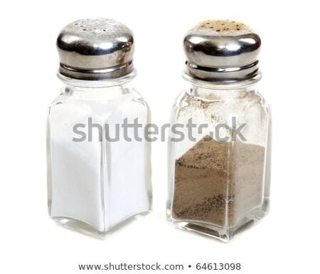 Glass saltcellar and pepper shaker Stock photo © RuslanOmega