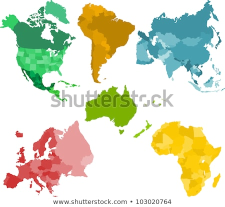 World on black background North & South America Stock photo © fenton