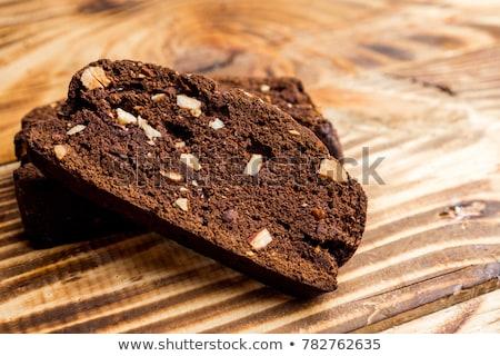 çikolata badem taze yeşil kupa Stok fotoğraf © fotogal