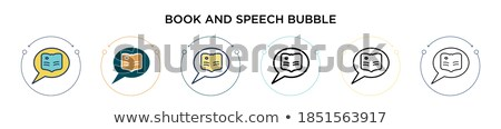 Dos medios tonos burbujas diálogo azul naranja Foto stock © orson
