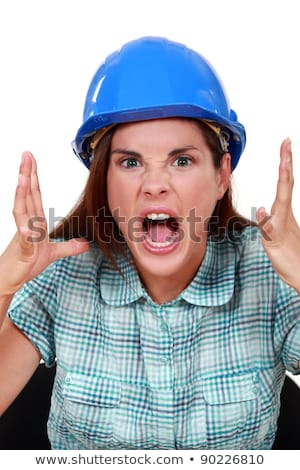 furious craftswoman screaming Stock photo © photography33