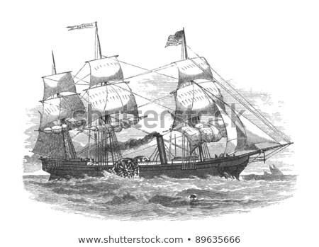 サバンナ ハイブリッド セーリング 蒸し器 最初 汽船 ストックフォト © Stocksnapper