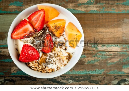 chia seeds in a rustic bowl Stock photo © PixelsAway