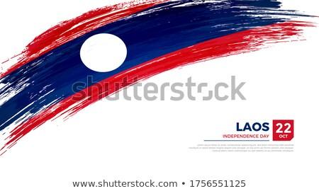 Grunge banderą Laos starych vintage grunge tekstury Zdjęcia stock © HypnoCreative