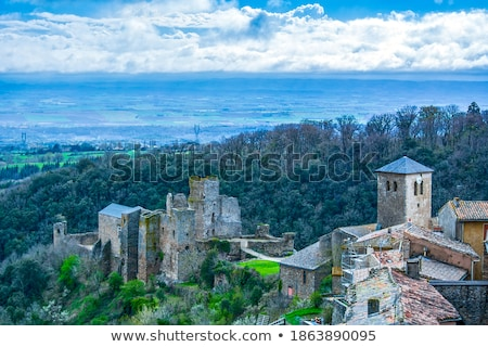 chateau cathare de Saissac Stock photo © cynoclub