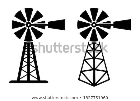 vent · turbine · électricité · générateur · permanent · ciel · bleu - photo stock © 5xinc