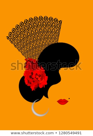 Flamenko İspanyolca kart çiçek ev moda Stok fotoğraf © carodi