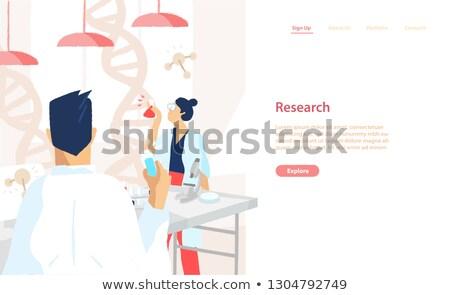 bilim · adamları · konuşma · laboratuvar · kadın · yüz - stok fotoğraf © photography33