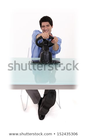 Man pretending to play a console Stock photo © photography33