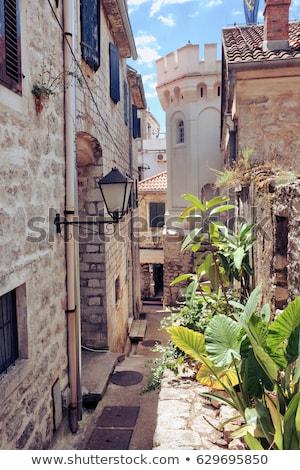 backstreet in old town of herceg novi montenegro stock photo © vladacanon
