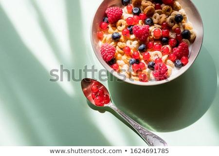 Stok fotoğraf: Sağlıklı · kahvaltı · meyve · yalıtılmış · beyaz