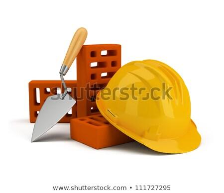 helmet with bricks and trowel Stock photo © AnatolyM